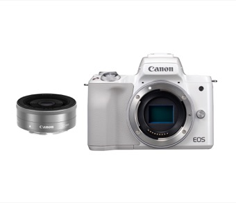 Canon EOS Kiss M 単焦点レンズキット ホワイト